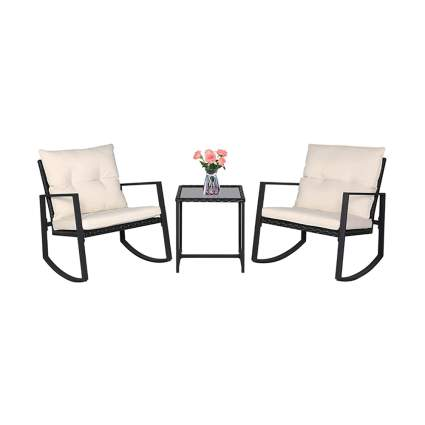 rocking garden furniture set