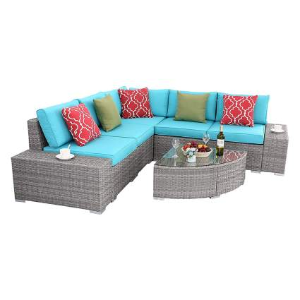 rattan sectional sofa garden furniture set