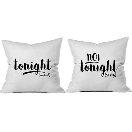 tonight not tonight pillows