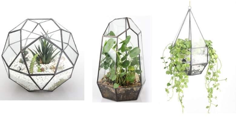ncyp terrarium, hanging terrarium, table top terrarium, geometric planter
