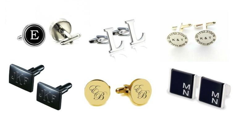 Date and Initials Cufflinks Personalised Rectangular Cufflinks Groom Wedding Cufflinks Elegant Monogrammed Cufflinks Engraved CuffLinks