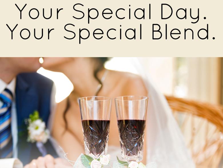 wedding custom wine, custom wine for weddings
