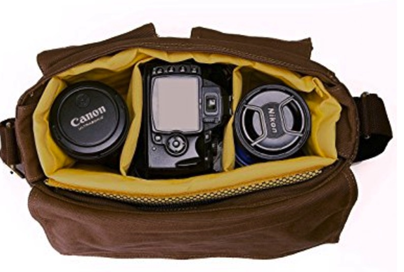 Peacechaos Leather Messenger Bag, best leather camera bags, leather bags for camera, leather camera backpack