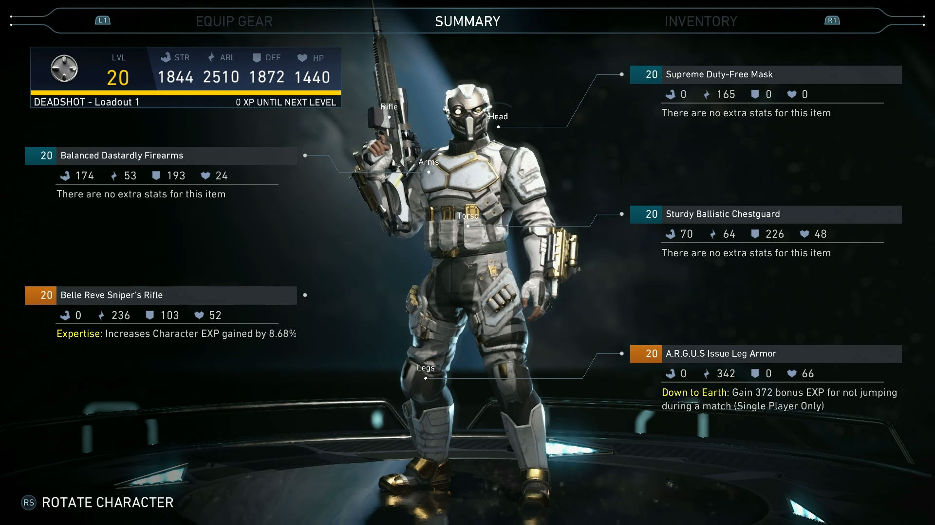 Injustice 2 Gear System