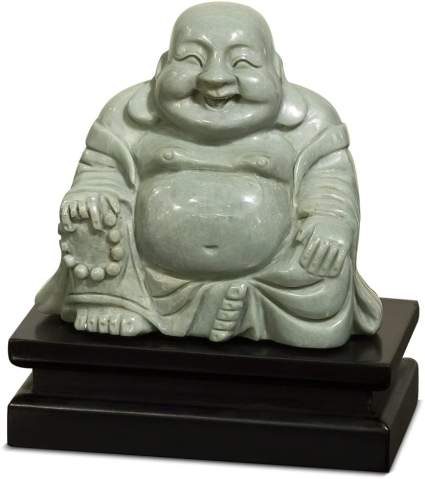 Jade Happy Buddha Statue