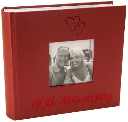 Haysom Interiors Lovely Ruby 40th Wedding Anniversary Photo Album