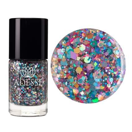 Bright irregular glitter polish