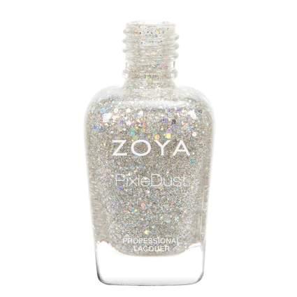 silver holographic Zoya nail polish