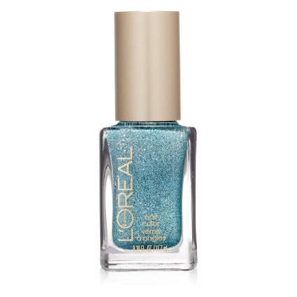 Blue L'Oreal nail polish