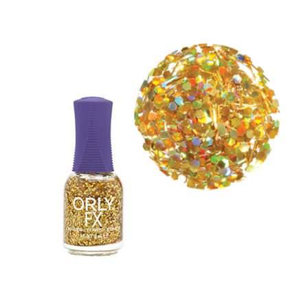 Gold bar glitter orly polish