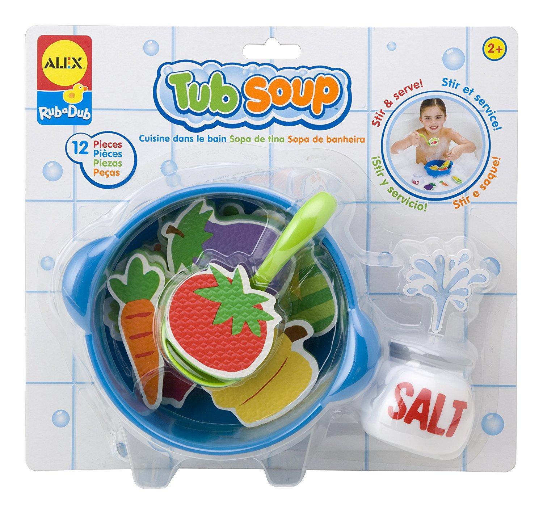 alex toys tub soup, foam bath toys, baby bath toys