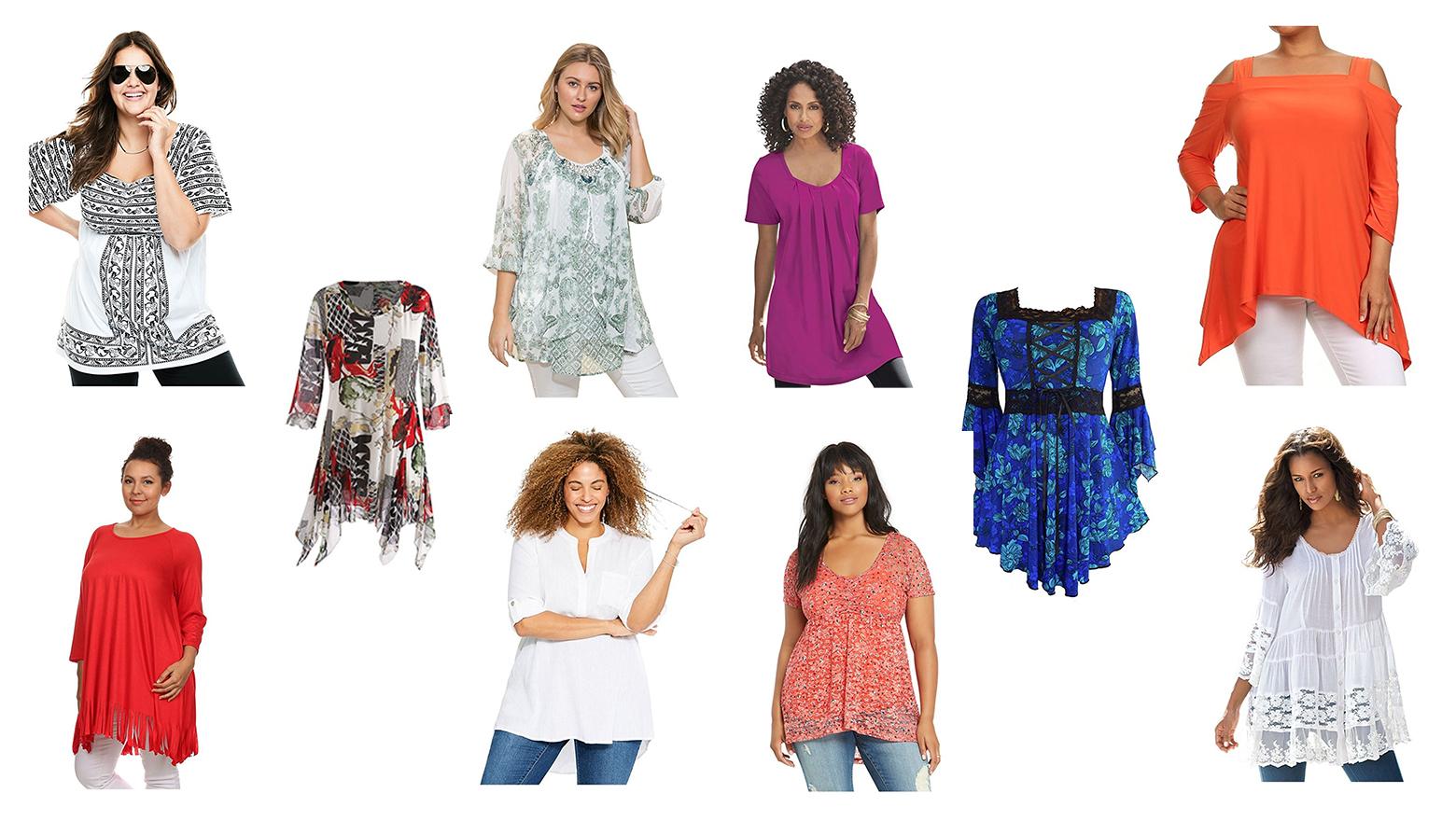 plus size tunics, plus size tops, plus size fashion, plus size clothing