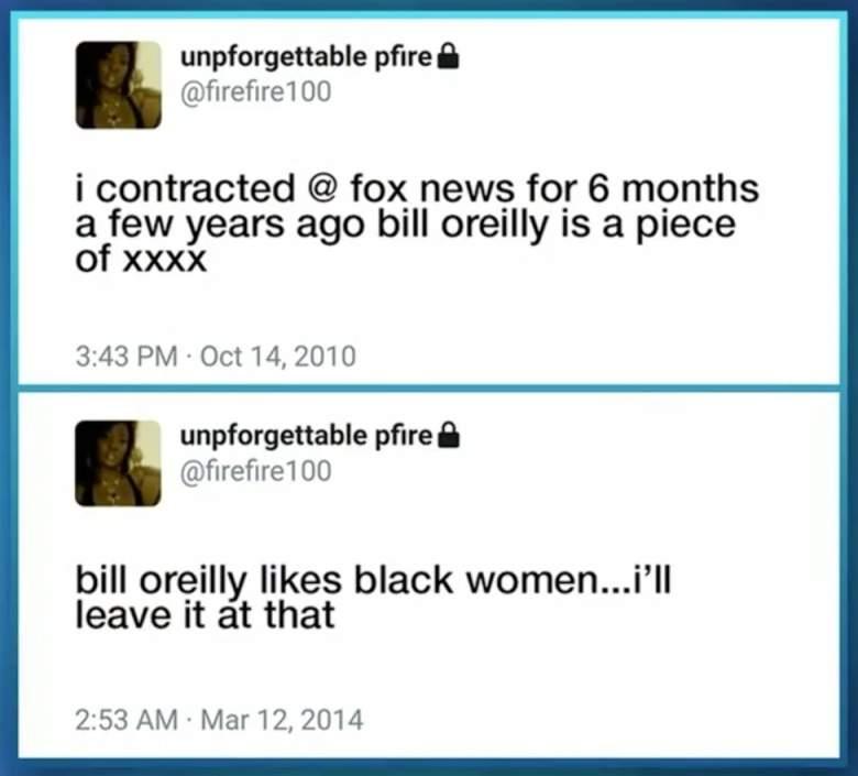 Perquita Burgess, Bill O'Reilly hot chocolate, Bill O'Reilly accuser