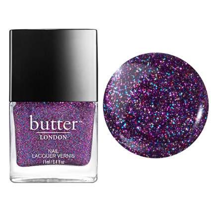 purple sparkly nail polish