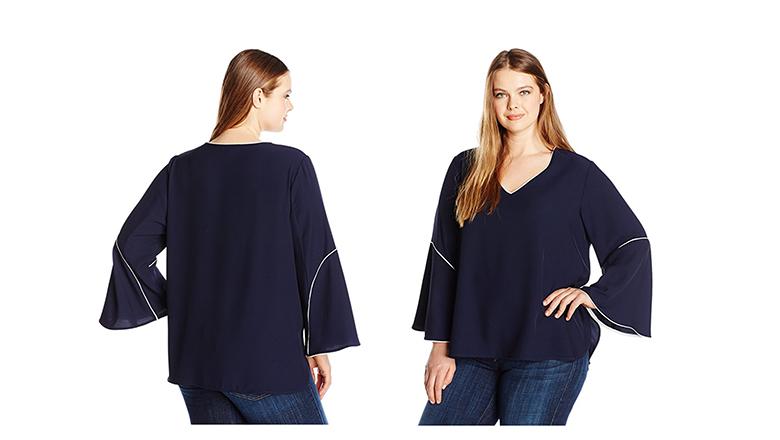 plus size tops, plus size shirts, plus size blouses, Calvin Klein