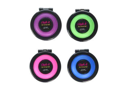 four neon chalk compacts