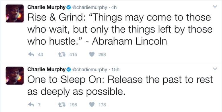 Charlie Murphy Twitter account