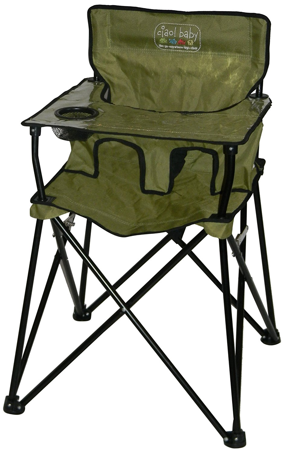 Fold Up High Chair with Tray baby Portable High Chair for Travel ciao Navy