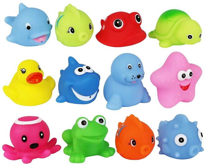 fish squirt toys, bath toy squirters, fish bath toys, baby bath boys, best baby bath toys, bath toy party favors, party favors for kids, click n play bath toys