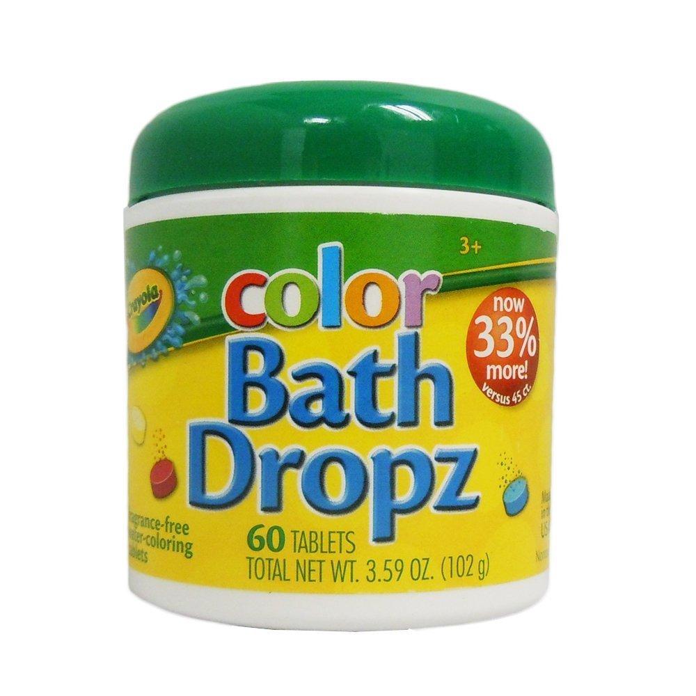 crayola color bath drops, fizzing bath drops, baby bath toys
