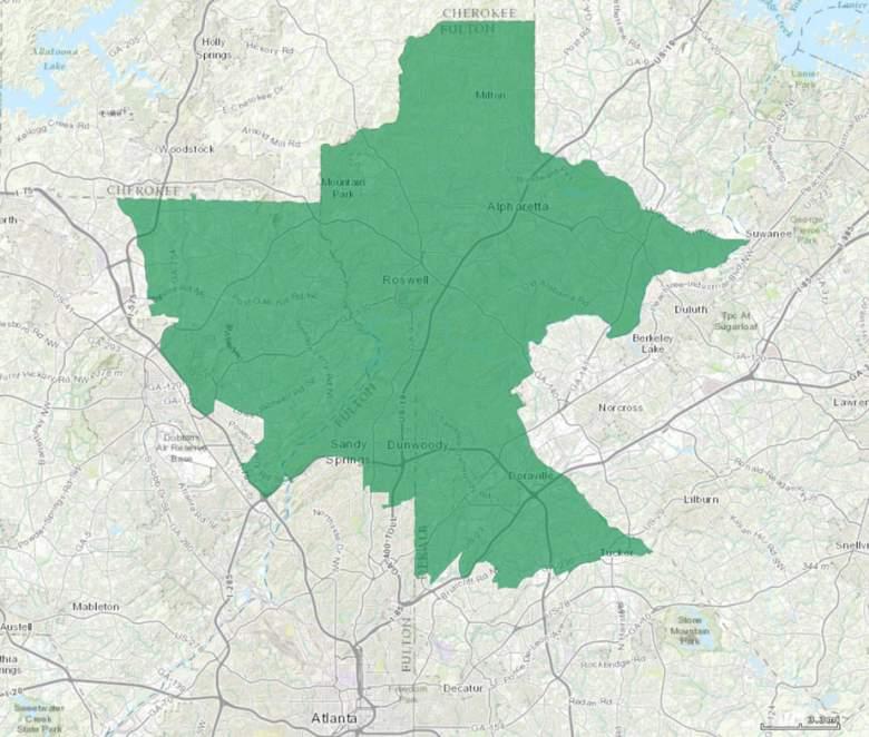 Georgia sixth congressional district, Georgia 6th congressional district, Georgia 6th district