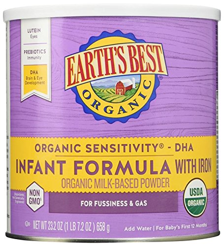 earth's best organic sensitivity infant formula, best infant formula