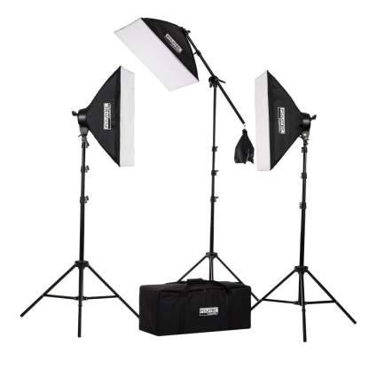 Fovitec StudioPRO Lighting Kit, photography lighting, studio lights, lighting kit