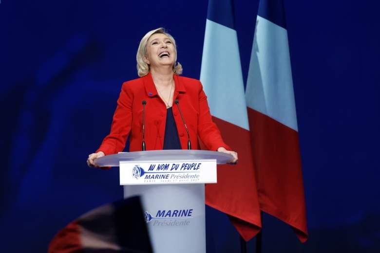 Marine Le Pen campaign rally, Marine Le Pen rally, Marine Le Pen campaign speech