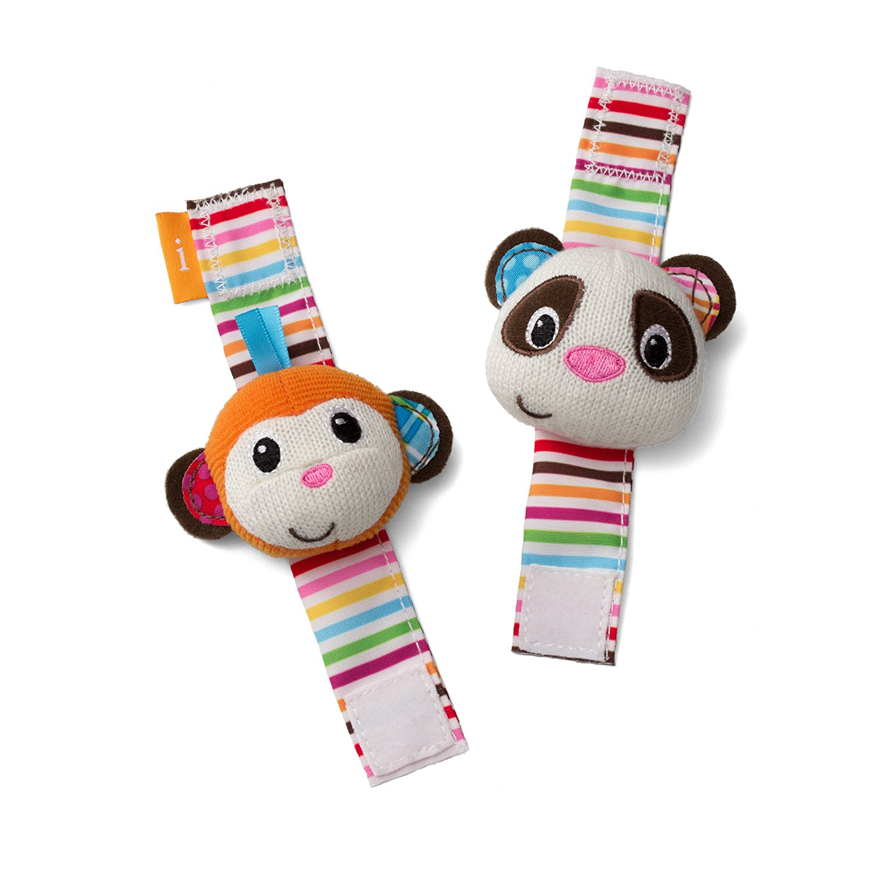 infantino wrist rattles, monkey rattle, panda rattle, best rattles, baby rattles