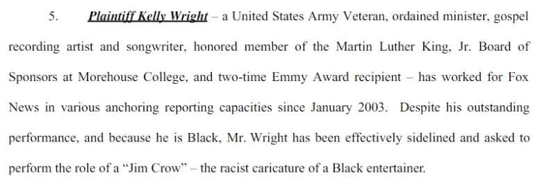 Kelly Wright lawsuit, Fox News Racial Discrimination, Bill O'Reilly racist