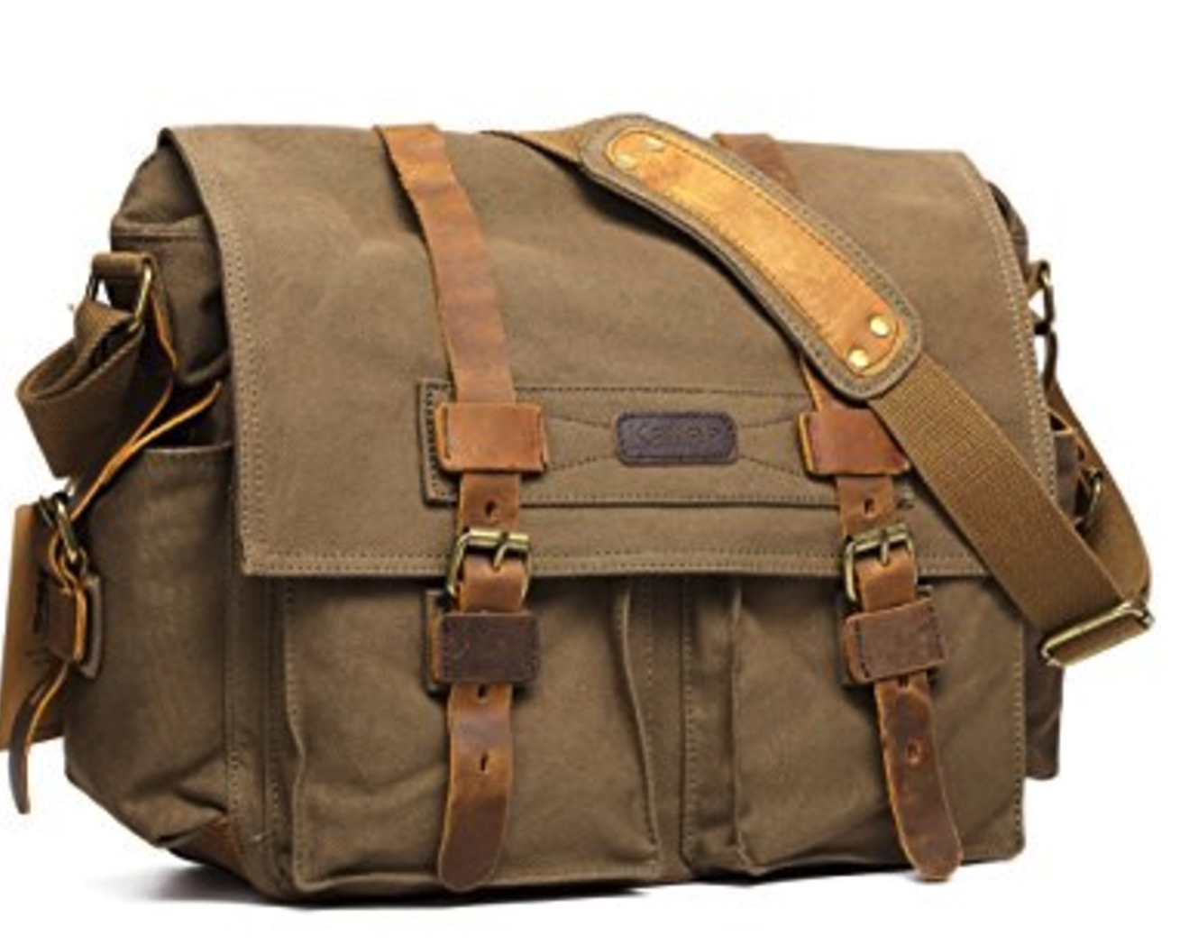 Kattee Canvas Leather Bag, best leather camera bags, leather bags for camera, leather camera backpack