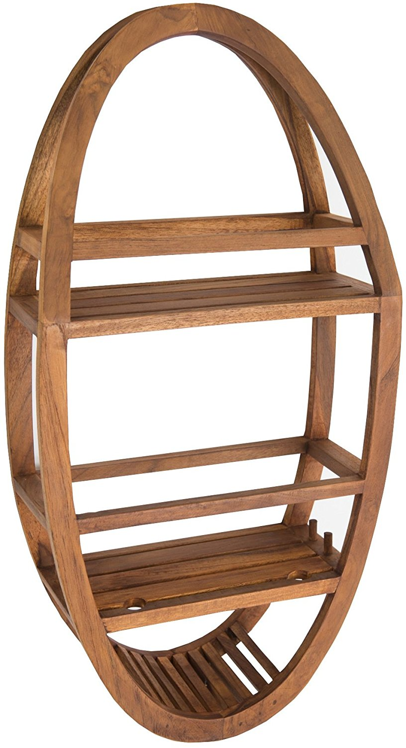 shower caddy, bath caddy, teak caddy