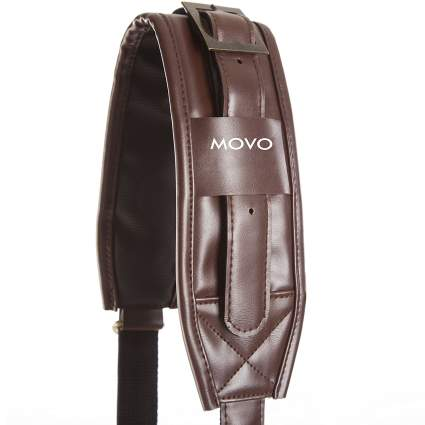Movo leather camera strap, best leather camera strap, best camera strap, custom camera straps