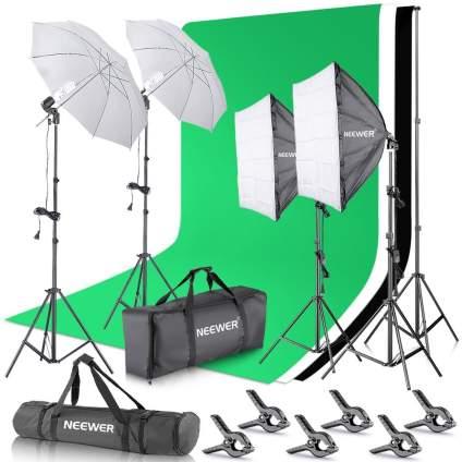 Neewer Background Lighting Kit, photography lighting, studio lights, lighting kit