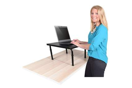 portable black adjustable standing desk