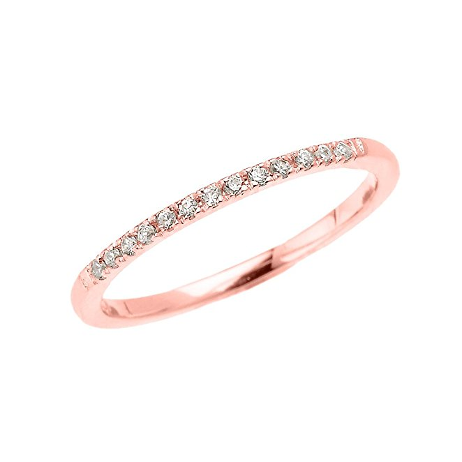 mother's day jewelry, mother's day ring, rose gold band, rose gold ring, diamond rose gold ring