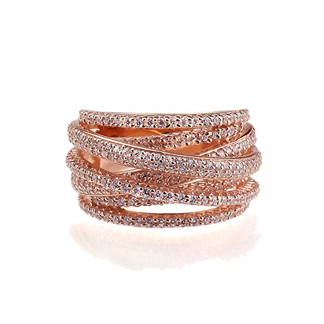 mother's day jewelry, mother's day ring, rose gold ring, rose gold stack