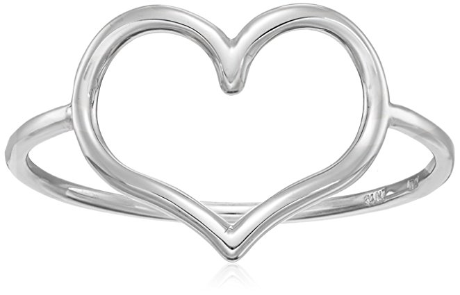 mother's day jewelry, mother's day ring, silver heart ring, heart ring