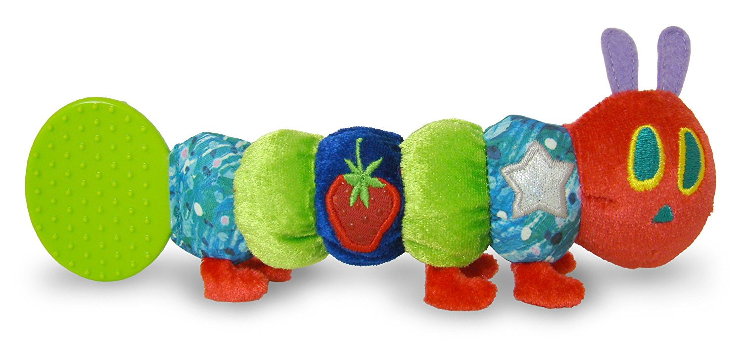 very hungry caterpillar rattle, teething rattle, plush rattle, best rattles, baby rattles