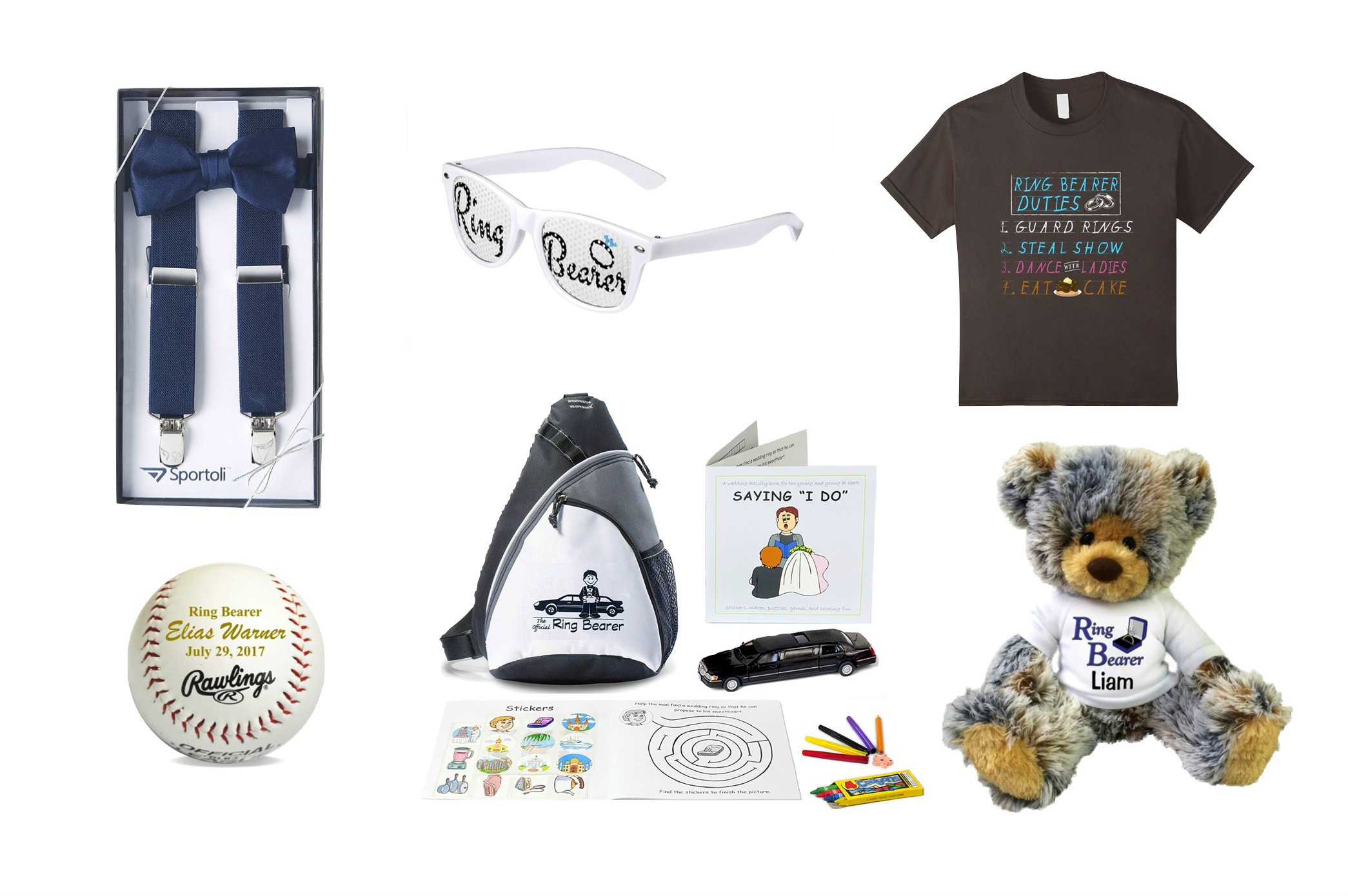 ring bearer gifts, bridal party gifts, ring bearer gift ideas