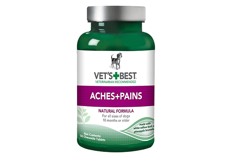 Image of vet's best aches and pains dog supplements package