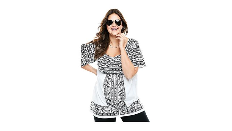 plus size tunics, plus size tops, plus size fashion, plus size clothing, woman within
