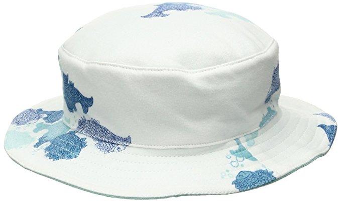 Funnycokid Baby Sun Hat Comhats UPF 50 Anti-UV Funny Pattern Boys Cap Adjustable Straps Sun-Hat 1-7 Years Summer Kids Hat
