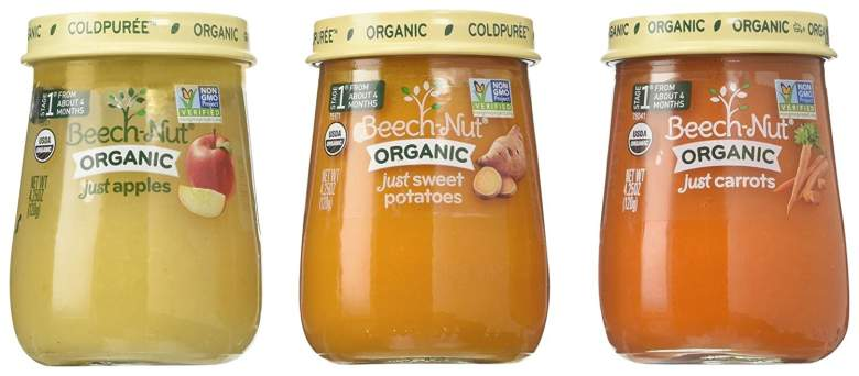 beech nut, organic baby food puree