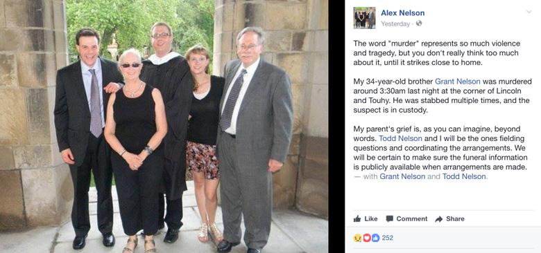 Alex Nelson Facebook tribute grant nelson