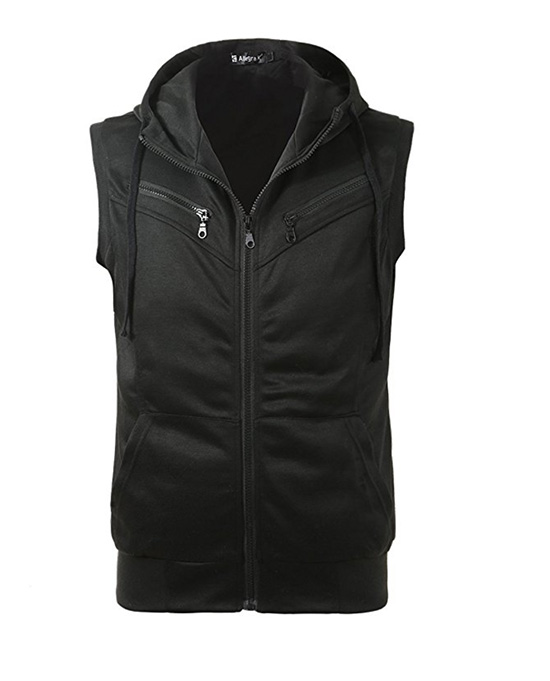 sleeveless hoodie, sleeveless sweatshirt, vest