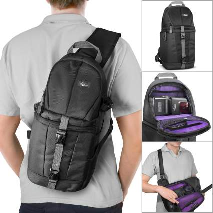 Altura photo camera sling, mirrorless camera bag, camera bag, camera backpack