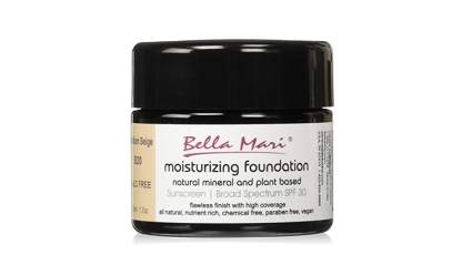 bella mari moisturizing mineral foundation for aging skin