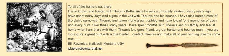 Theunis Botha Big Game Hounds