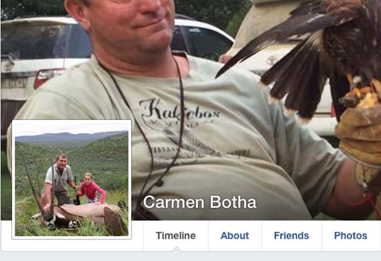 Carmen Botha Hunter Daughter Facebook page